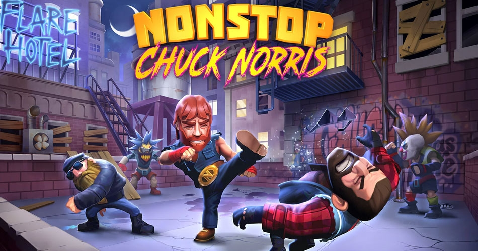 Мобильная игра Nonstop Chuck Norris от самого Чака Норриса и создателей Nonstop Knight