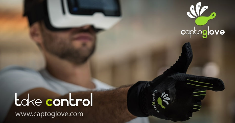 Рукавичка CaptoGlove для віртуальної реальності впорається з самими різними завданнями